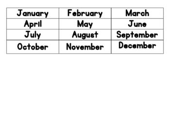Montessori Calendar Work