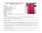 Montessori Card Pouch Pattern (for three-part cards)