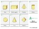 Montessori Cards.  3-D Shapes (Spanish)