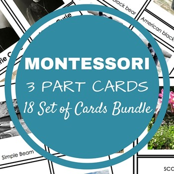 18 Unique Sets of Montessori Cards (USING WITH REAL IMAGES)