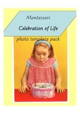 Montessori 'Celebration of Life' Birthday Template Pack