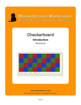Montessori Checkerboard Introduction Workbook