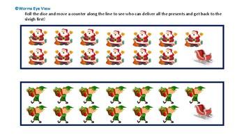 Montessori Christmas tray activity printouts