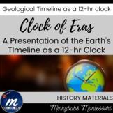 Montessori Clock of Eras Geology Timeline Impressionistic