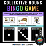 Montessori |Collective Noun Bingo | Google Slides + Boom Cards | Distance Learn