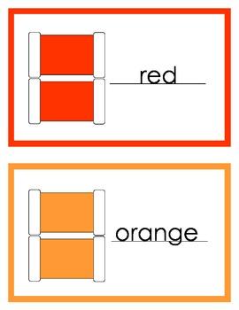 Montessori Color Box 2 - Control Book and printables