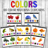 Montessori Color Matching Clipcards Real Photos