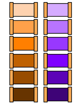 Montessori Color Tablets, Box 3 - Grading Colors from Darkest to Lightest
