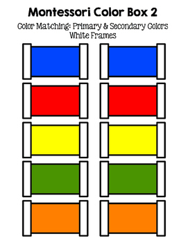 Montessori Color Tablets, Boxes 1 & 2 (Color Matching & Writing Practice)