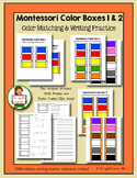 Montessori Color Tablets, Boxes 1 & 2 (Color Matching & Wr