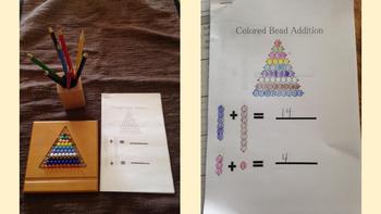 Montessori Colored Bead Stair Addition