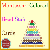 Montessori Colored Bead Stair Cards