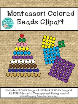 Montessori Colored Beads Clipart