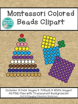 Montessori Colored Beads Clipart