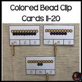 Montessori Colored Beads Teen number clip cards 11-20