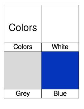 Montessori Colors Nomenclature 3 Three Part Cards