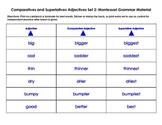 Montessori Comparatives and Superlatives Adjectives: Set 2