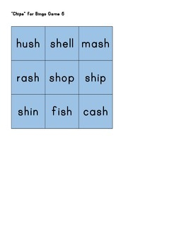 "Montessori Consonant Blends Phonics Bingo - ""Blue Series"""