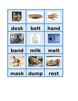 Montessori Consonant Blends Phonics Spelling Cards Set A -