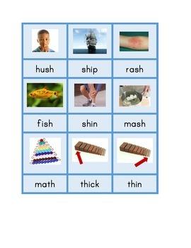 "Montessori Consonant Blends Phonics Spelling Cards Set B - ""Blue Series"""