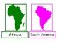 Montessori Continent 3 Part Cards