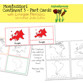 Montessori Continents 3-Part Cards and Printables