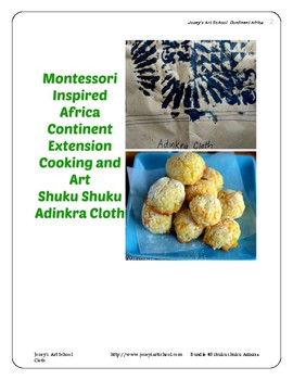 Montessori Continent Bundle 3 Africa Art Cooking Pre-k to 3rd Grade Primary