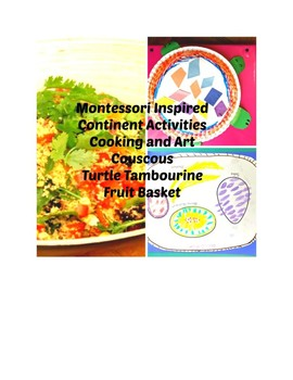 Montessori Continent Bundle Africa Art Cooking Pre-k to 3rd Grade Primary