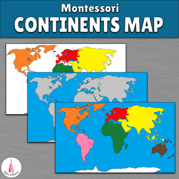 Montessori Continents Map