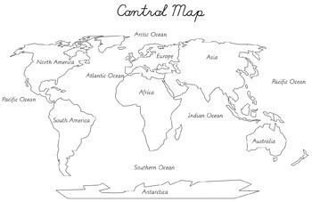 Montessori continents puzzle maps a2 a3 a4 sizes by max and naoli montessori continents puzzle maps a2 a3 a4 sizes gumiabroncs Choice Image
