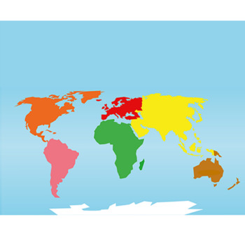 Montessori Continents Puzzle Maps (A2, A3, A4 sizes)