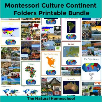 image regarding Printable Folders called Montessori Cultural Continent Folders Printable Package