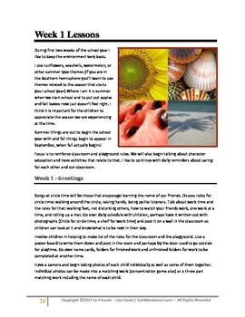 August/September Cultural Curriculum Weeks 1-5 (Northern Hemisphere)