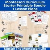 Montessori Curriculum Starter Printable Bundle + Lesson Plans