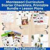 Montessori Curriculum Starter Subject Checklists, Printabl