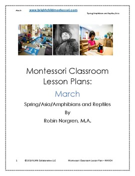 Montessori DAILY Lesson Plan MARCH 4 weeks of curriculum