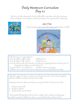 Montessori Daily Lesson Plan #2