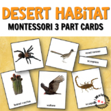 Montessori Desert 3 Part Cards