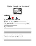 Montessori Digging through the Dictionary