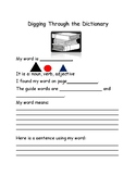 Montessori Digging through the Dictionary