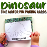 Montessori Dinosaur Pin Poking Fine Motor Activity