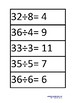 Montessori Division bead board equations slips