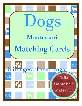 Montessori - Dogs Matching Cards