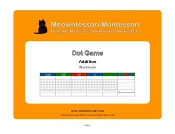 Montessori Dot Game Addition Workbook
