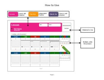 Montessori Dot Game Multiplication Workbook