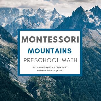 Montessori Early Childhood Math - Mountain Theme FREE
