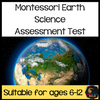 Montessori Earth Science  test for assessment