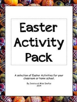 Montessori Easter Activity Pack, Language Cards and Activities