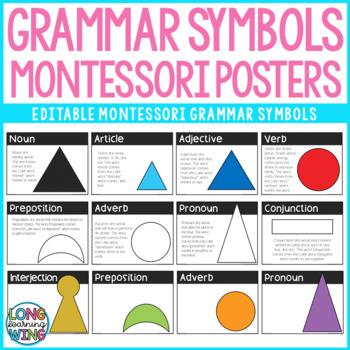 Montessori Editable Grammar Posters