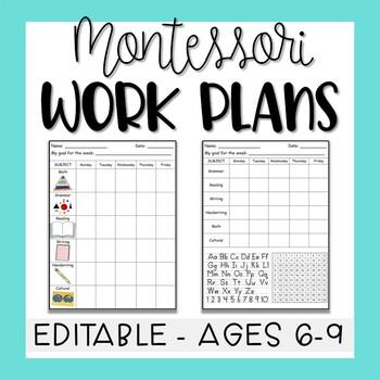 Montessori Elementary 6-9 Work Plans (Fully Editable!)